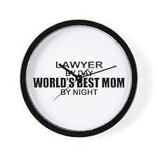 World's Best Mom - LAWYER Wall Clock