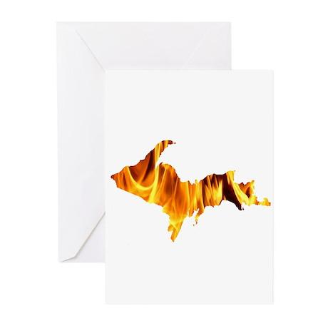 Bonfire U.P. Greeting Cards (Pk of 20)
