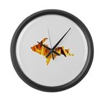 Bonfire U.P. Large Wall Clock
