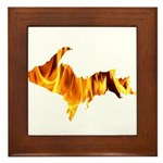 Bonfire U.P. Framed Tile