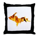 Bonfire U.P. Throw Pillow