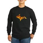 Bonfire U.P. Long Sleeve Dark T-Shirt