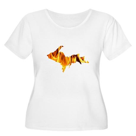 Bonfire U.P. Women's Plus Size Scoop Neck T-Shirt