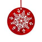 Snowflake Christmas Ornament (Round)