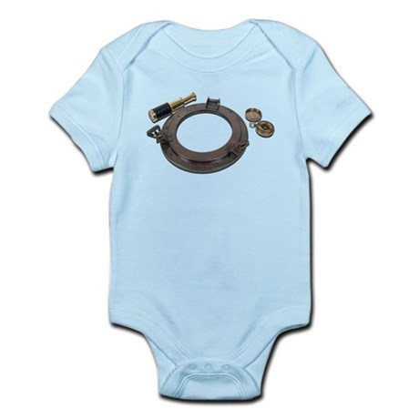Antique Porthole Telescope Su Infant Bodysuit