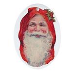 Vintage Christmas Ornament (Oval)