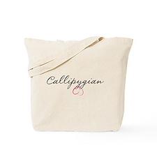Callipygian - Script Tote Bag