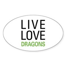 Live Love Dragons Decal