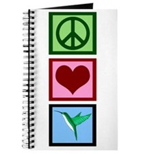 Peace Love Hummingbirds Journal