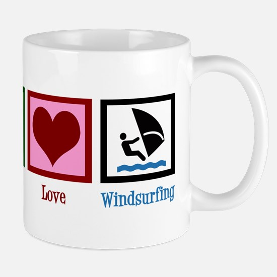 Peace Love Windsurfing Mug