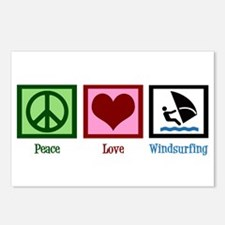 Peace Love Windsurfing Postcards (Package of 8)