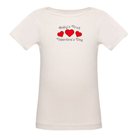 First Valentine's Day Organic Baby T-Shirt