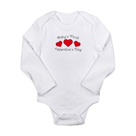 First Valentine's Day Long Sleeve Infant Bodysuit