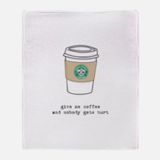 gimme coffee Throw Blanket