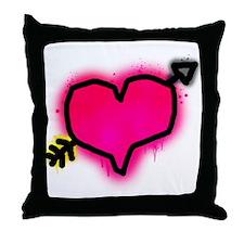 'Graffiti Heart' Throw Pillow