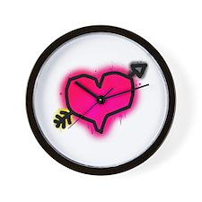 'Graffiti Heart' Wall Clock