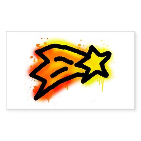 'Shooting Star' Sticker (Rectangle)