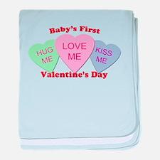 First Valentine's Day baby blanket