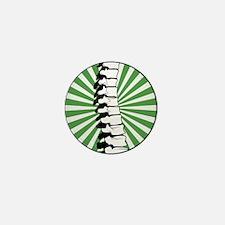 Green Burst Spine Mini Button