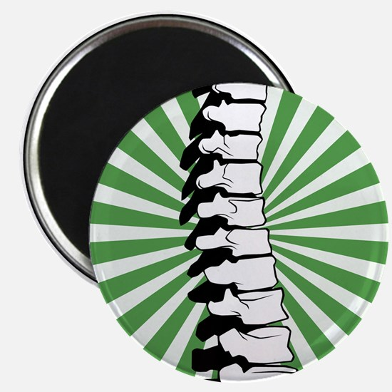 Green Burst Spine Magnet