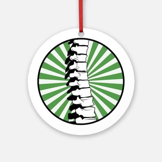 Green Burst Spine Ornament (Round)