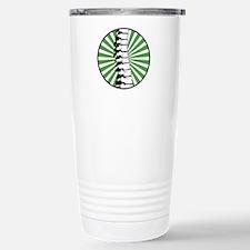 Green Burst Spine Stainless Steel Travel Mug
