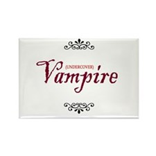 'Undercover Vampire' Rectangle Magnet