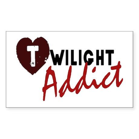 'Twilight Addict' Sticker (Rectangle)