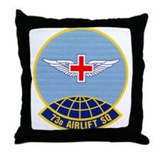 73d Airlift Squadron Throw Pillow