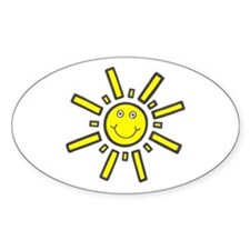 'Smiling Sun' Oval Decal