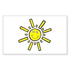 'Smiling Sun' Rectangle Decal