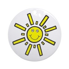 'Smiling Sun' Ornament (Round)