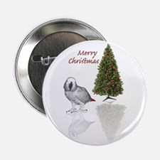 """african grey christmas 2.25"""" Button"""