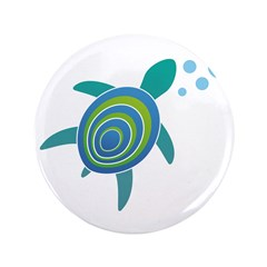 """Ocean Doctor Sea Turtle 3.5"""" Button (100 pack"""