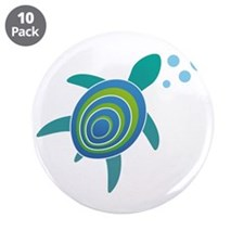 "Ocean Doctor Sea Turtle 3.5"" Button (10 pack)"