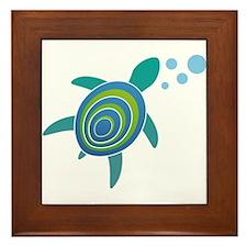 Ocean Doctor Sea Turtle Framed Tile