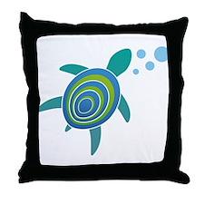 Ocean Doctor Sea Turtle Throw Pillow