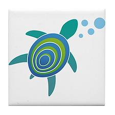 Ocean Doctor Sea Turtle Tile Coaster