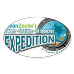 50-States Expedition Sticker (Oval 10 pk)