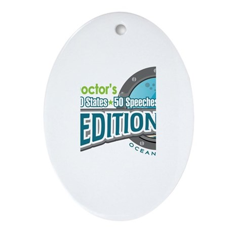 50-States Expedition Ornament (Oval)
