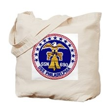USS Philadelphia SSN 690 Tote Bag