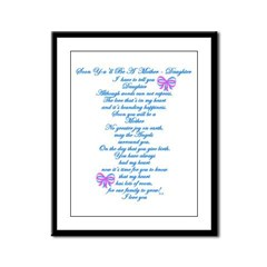 Daughter Expecting Baby Framed Panel Print