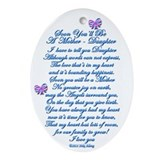 First time expectant mothers Oval Ornaments