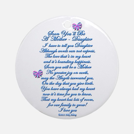 Daughter Expecting Baby Ornament (Round)