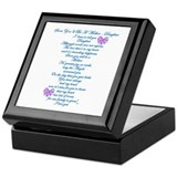 Daughter Square Keepsake Boxes