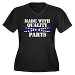 Quality Scottish Parts Women's Plus Size V-Neck Da