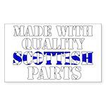 Quality Scottish Parts Sticker (Rectangle)