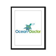 Ocean Doctor Logo Framed Panel Print