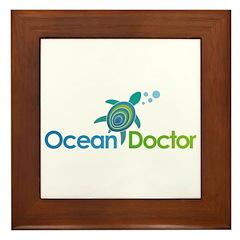 Ocean Doctor Logo Framed Tile