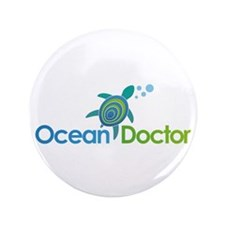 "Ocean Doctor Logo 3.5"" Button (100 pack)"